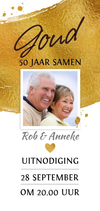 Jubileumkaarten - Mooie uitnodiging voor 50-jarig gouden jubileum