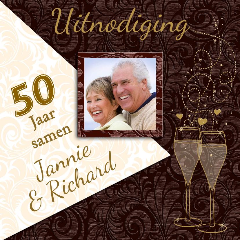 Jubileumkaarten - Mooie uitnodiging voor een jubileum 50 jaar samen