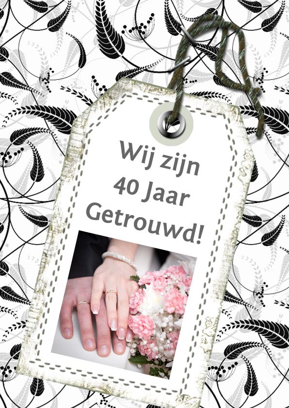 Jubileumkaarten - Naamkaartje foto en tekst d