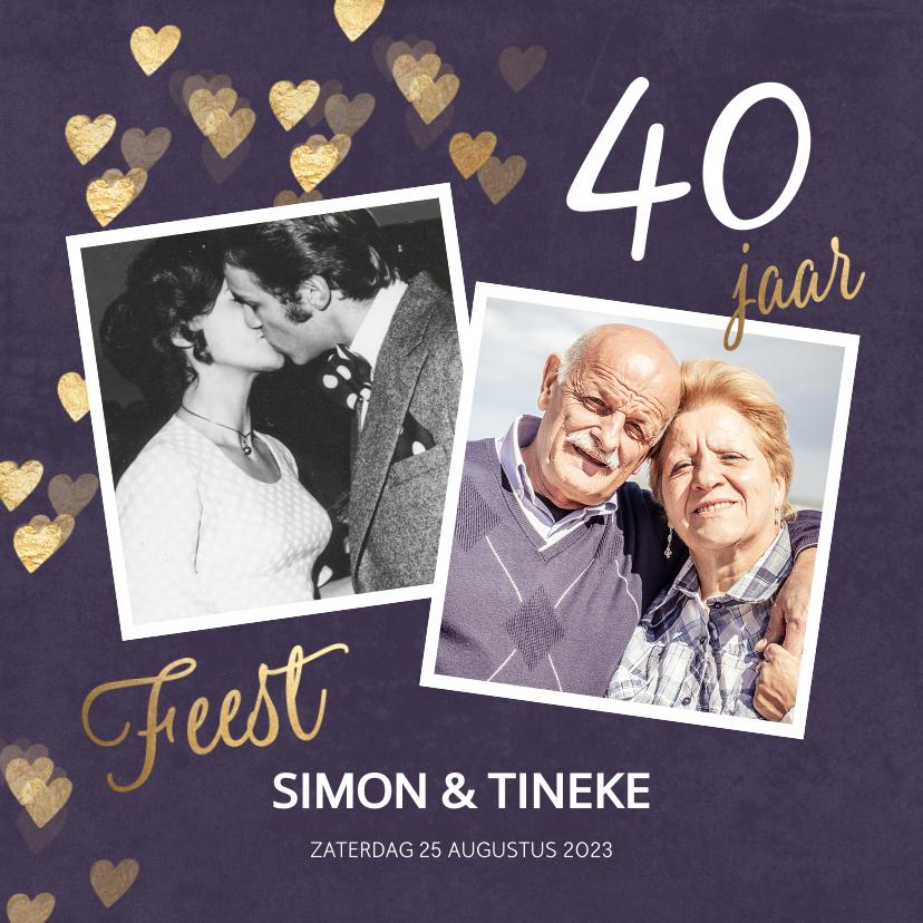 Jubileumkaarten - Originele uitnodiging huwelijk jubileum 40 jaar