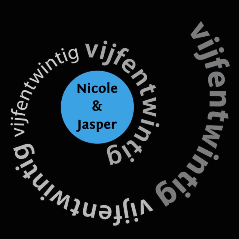 Jubileumkaarten - spiraal vijfentwintig