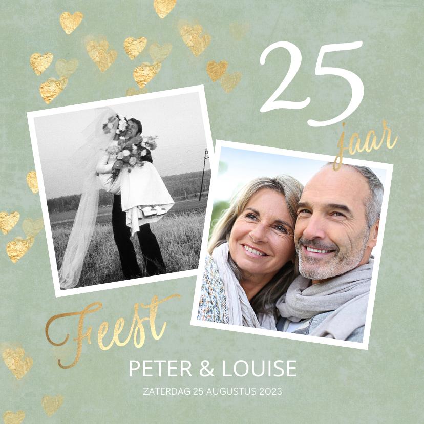 Jubileumkaarten - Stijlvolle huwelijk jubileum uitnodiging 25 jaar foto