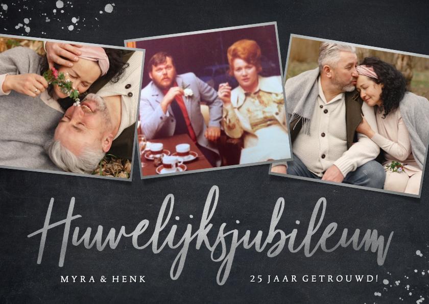 Jubileumkaarten - Stijlvolle uitnodiging zilveren huwelijksjubileum - 25 jaar