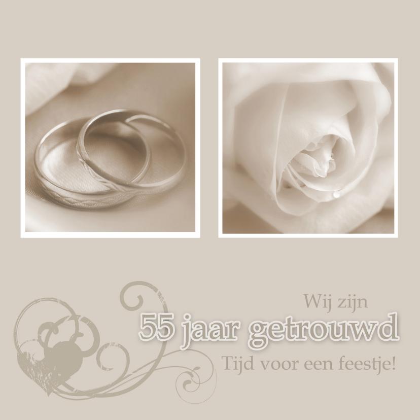 Jubileumkaarten - Uitnodiging 55 jarig huwelijk