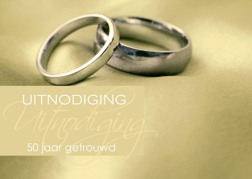 Jubileumkaarten - Uitnodiging gouden huwelijk