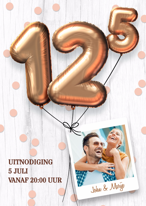 Jubileumkaarten - Uitnodiging huwelijk jubileum 12,5 jaar