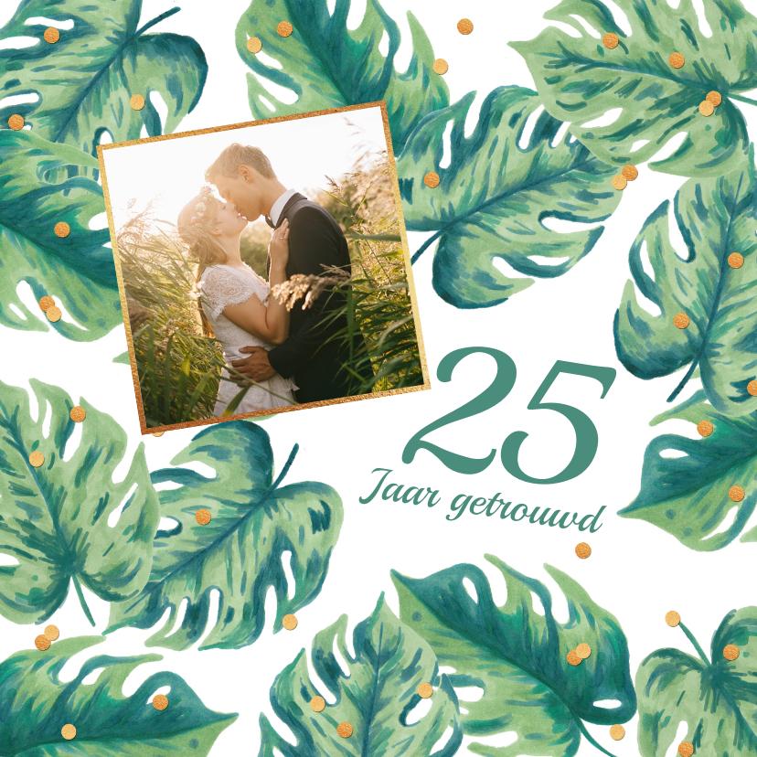 Jubileumkaarten - Uitnodiging huwelijksjubileum botanical foto