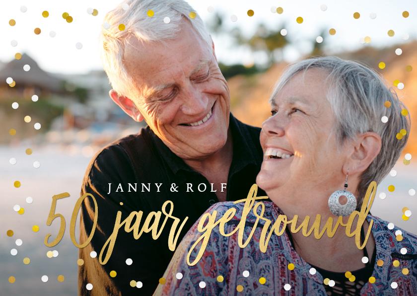 Jubileumkaarten - Vrolijke confetti uitnodiging huwelijksjubileum eigen foto
