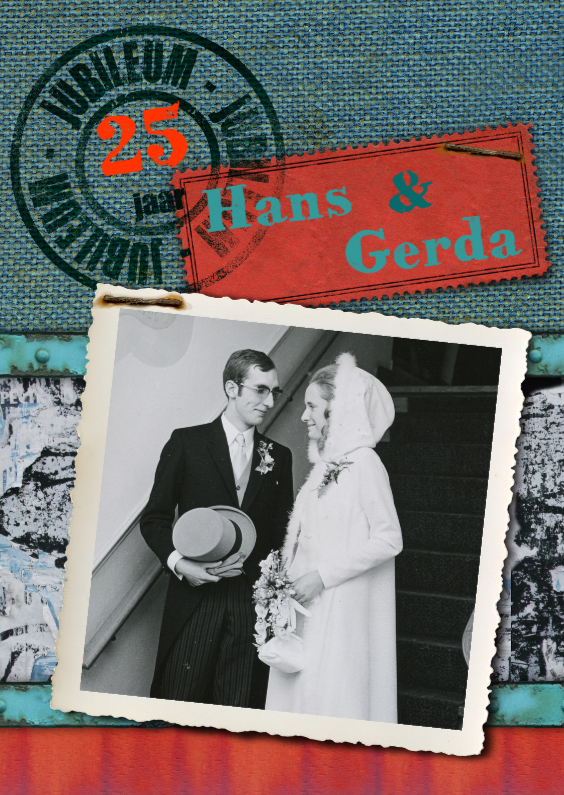 Jubileumkaarten - YVON Jubileum 25 jaar rh eigen foto