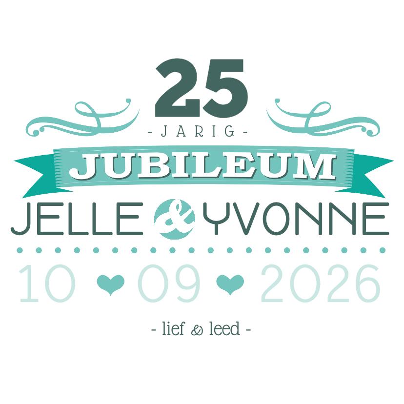 Jubileumkaarten - YVON jubileum 25 tekst retro