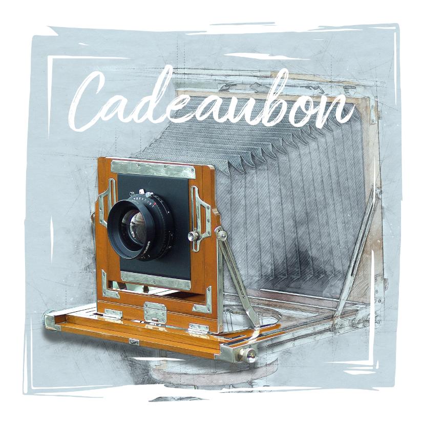 Kaarten mailing - Cadeaubon zakelijk zzp fotografie camera