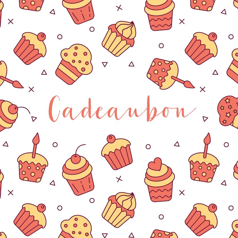 Kaarten mailing - Cadeaubon zakelijk zzp taarten en cupcakes