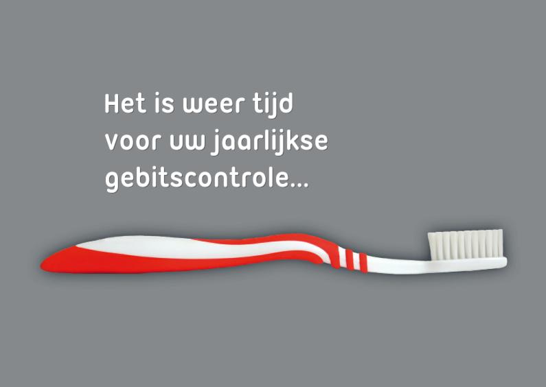 Kaarten mailing - controle gebit tandarts