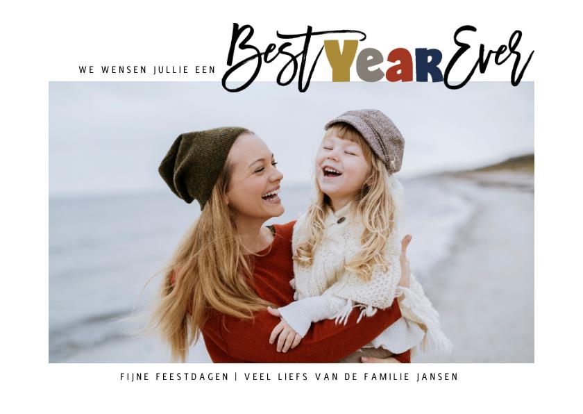 Kerstkaarten - Best Year Ever kerstkaart