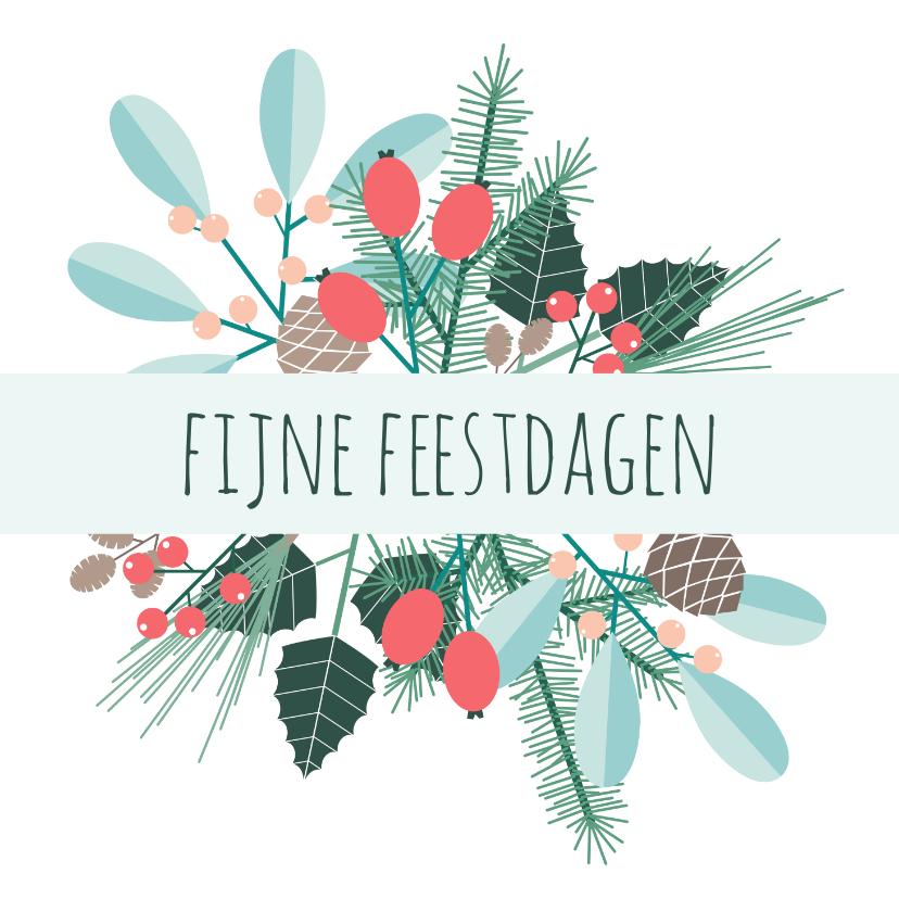 Kerstkaarten - Botanische kerstkaart