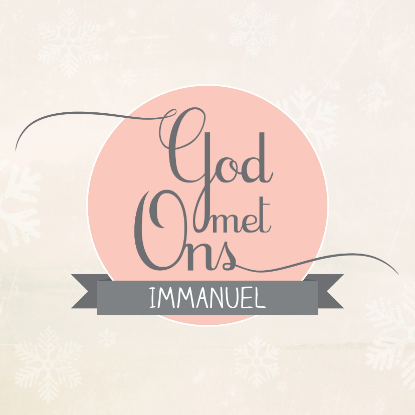 Kerstkaarten - Christelijke kerstkaart Immanuel God met ons