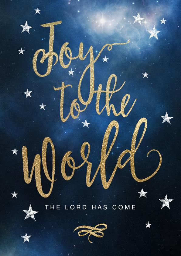 Kerstkaarten - Christelijke kerstkaart Joy to the World