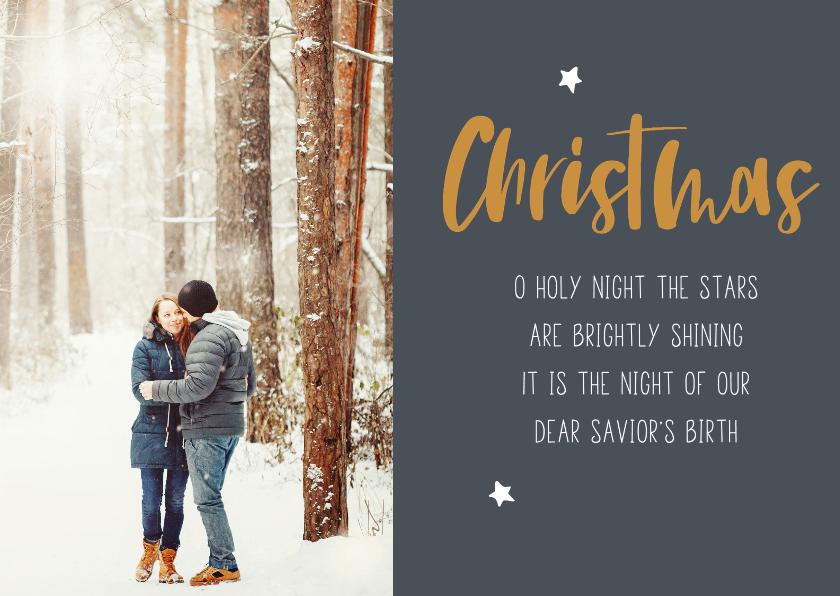 Kerstkaarten - Christelijke kerstkaart met kerstlied en eigen foto