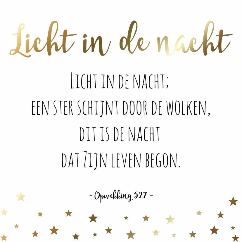 Kerstkaarten - Christelijke kerstkaart Opwekking 527