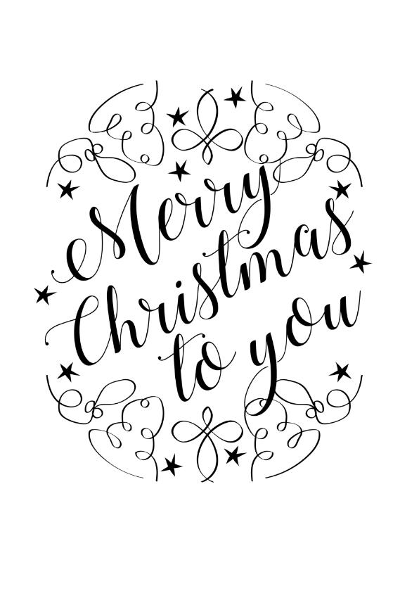 Kerstkaarten - Curly merry christmas to you