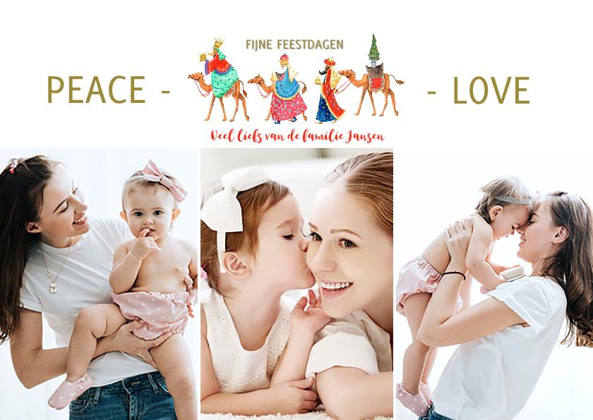 Kerstkaarten - Drie koningen kerstkaart fotokaart