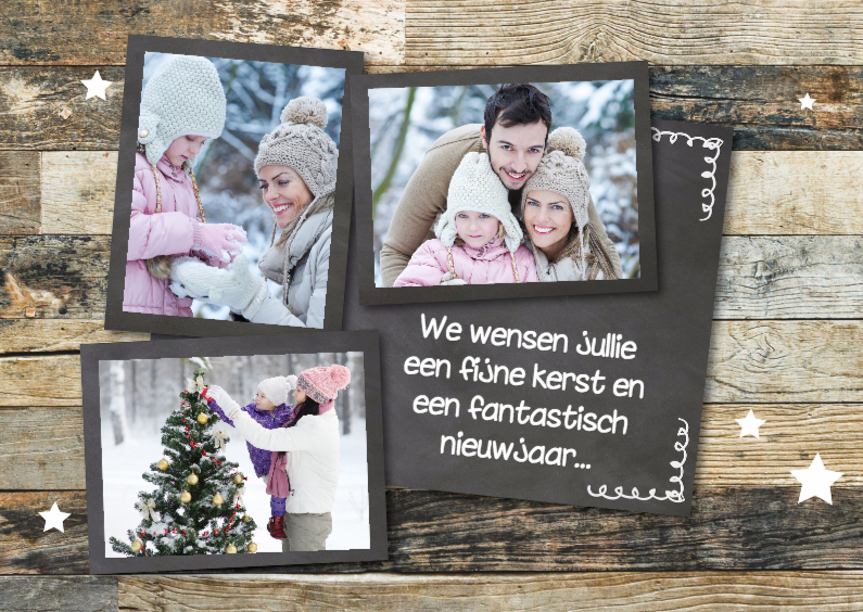 Kerstkaarten - Enkele of dubbele kerstkaart - collage