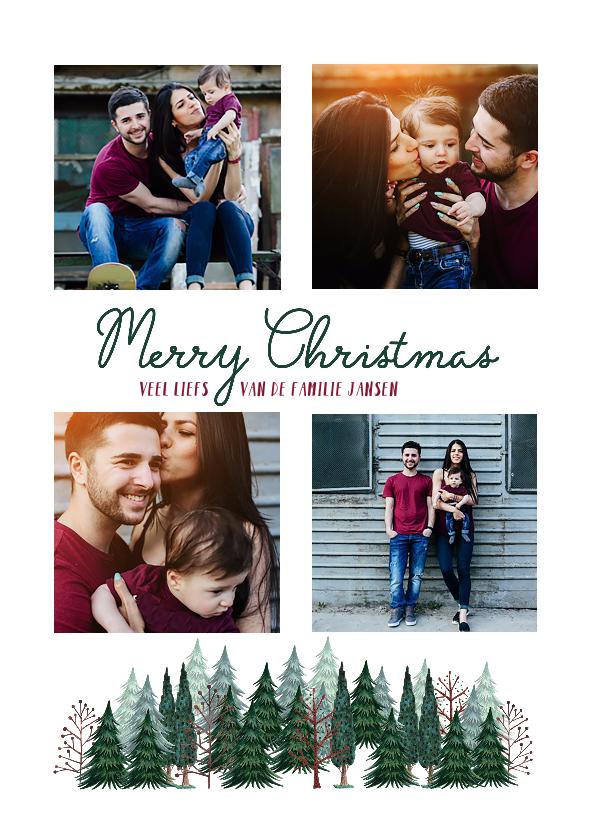 Kerstkaarten - Fijn Kerstfeest Bomen