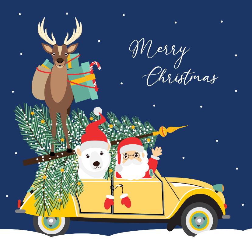 Kerstkaarten - Fijne feestdagen vanuit deze grappig kerst eend