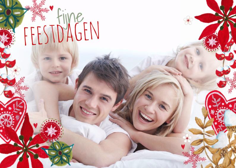 Kerstkaarten - Fijne kerst Eigen Foto RAND Landscape