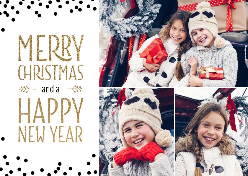 Kerstkaarten - Foto collage kerstkaart 3 fotos