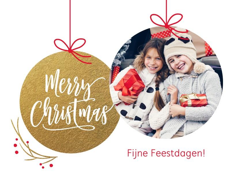 Kerstkaarten - Foto kerstkaart kerstballen
