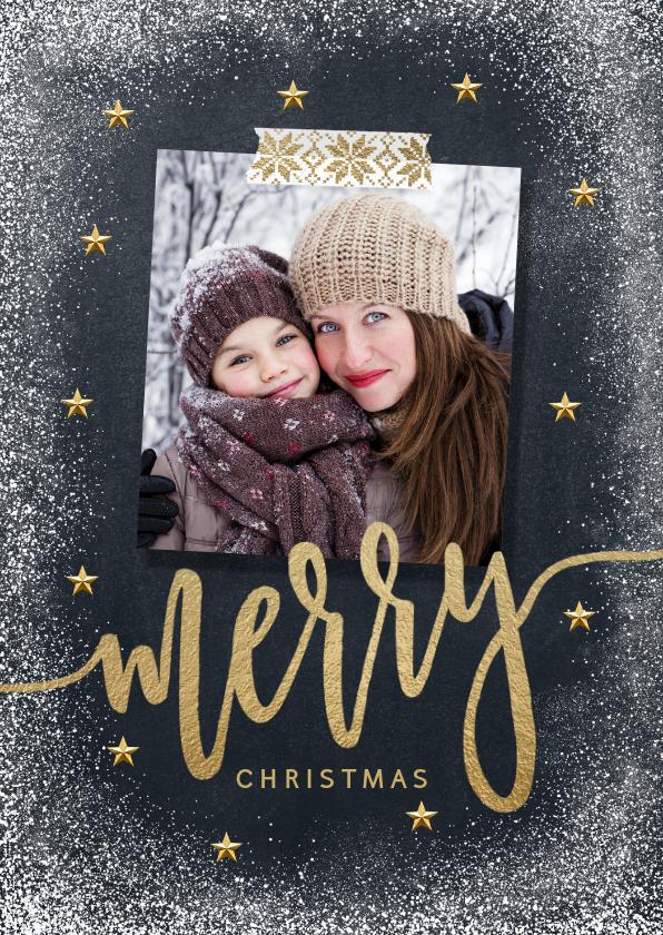 Kerstkaarten - Foto kerstkaart met grappige tekst binnenkant