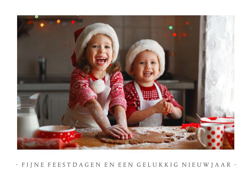 Kerstkaarten - Fotokaart kerstmis met 1 grote foto en aanpasbare tekst