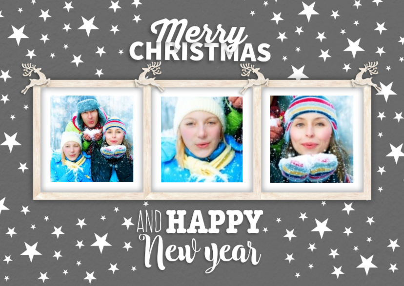 Kerstkaarten - Fotolijstje van 3-isf