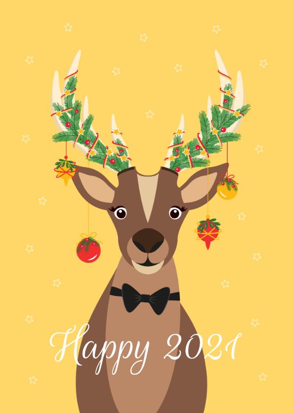 Kerstkaarten - Grappig en lieve Rudolf wenst jullie fijne feestdagen