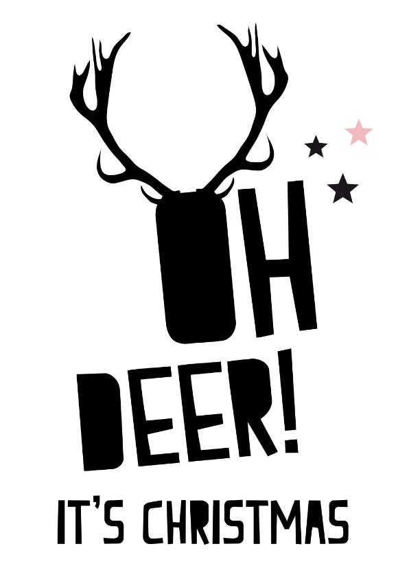 Kerstkaarten - Grappige kerstkaart Oh deer!