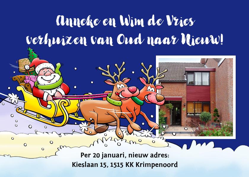 Kerstkaarten - Grappige verhuiskaart voor rond de kerst- en feestdagen