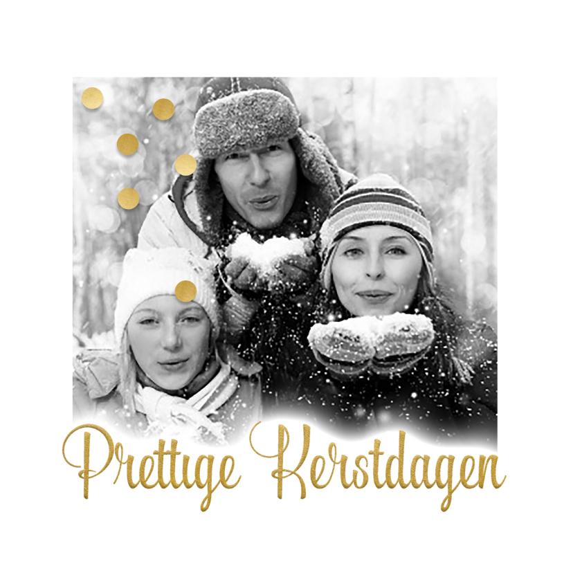 Kerstkaarten - Grote foto in zwartwit-isf
