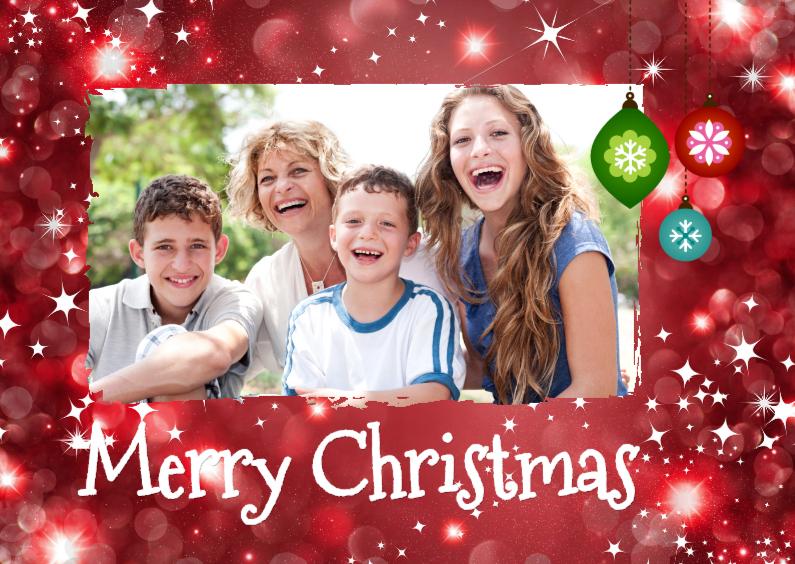 Kerstkaarten - Happy kerstkaart met foto -isf