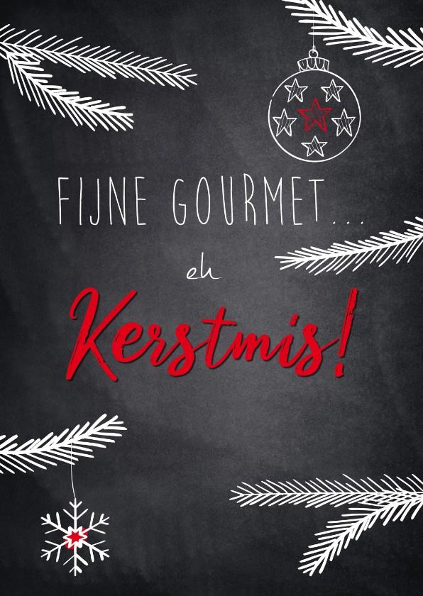 Kerstkaarten - Humoristische kerstkaart, fijne gourmet.