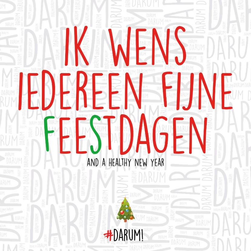Kerstkaarten - Ik wens iedereen fijne (f)ee(s)tdagen