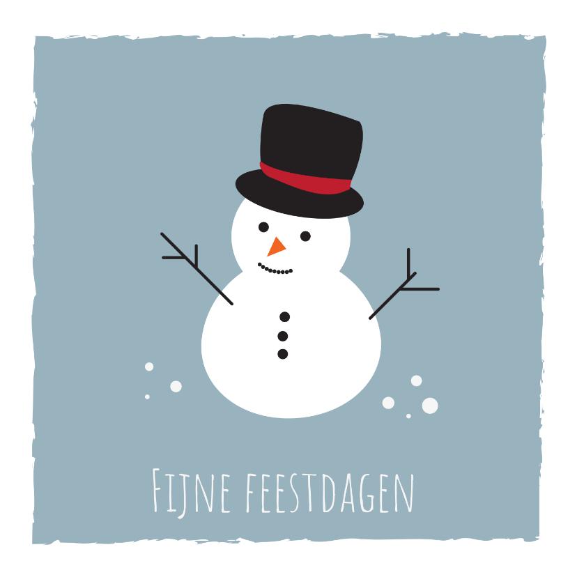 Kerstkaarten - Jeugdfonds Sport & Cultuur Kerstkaart Sneeuwpop