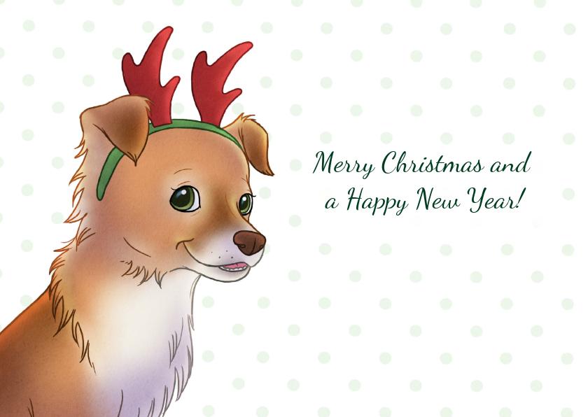 Kerstkaarten - Kerst Chiwowy Rendier