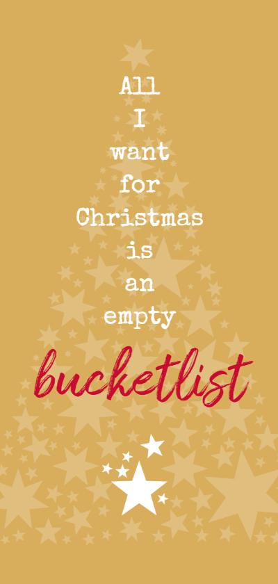 Kerstkaarten - kerst empty bucketlist