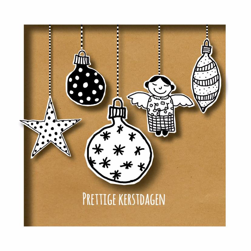 Kerstkaarten - Kerst - Kerstballen Mix - MW