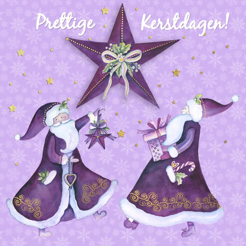 Kerstkaarten - Kerst kerstmannen ster