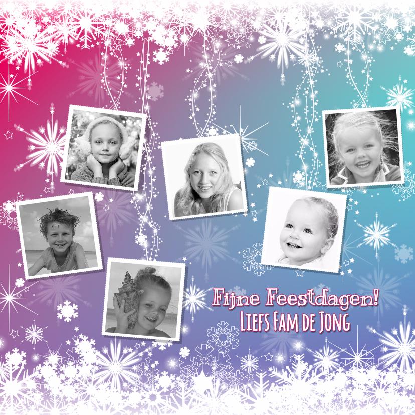 Kerstkaarten - kerst kleurrijke fotokaart