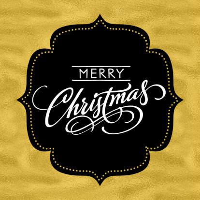 Kerstkaarten - Kerst label goudkleur & foto- SG