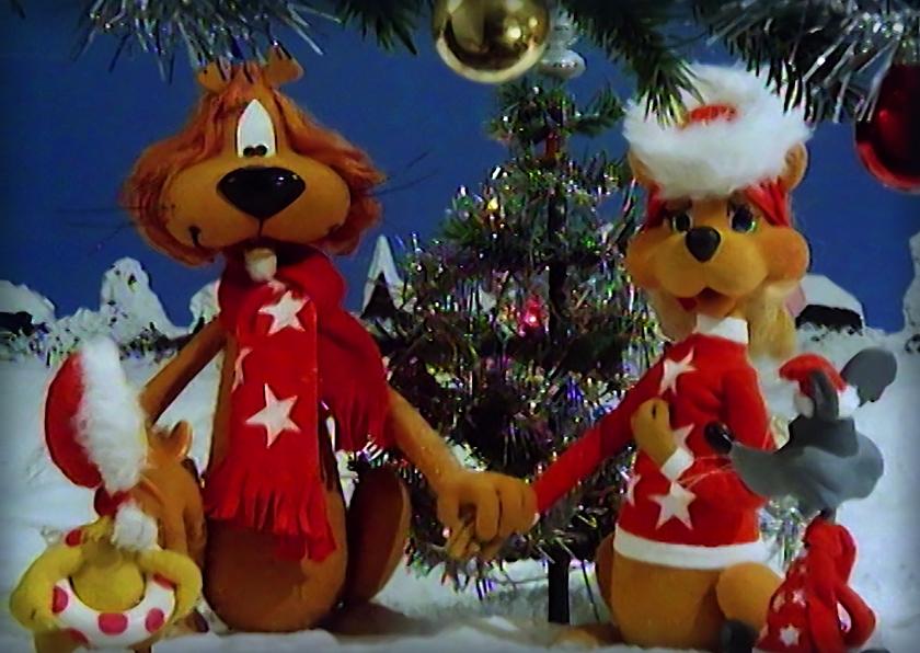 Kerstkaarten - Kerst Loeki vrienden kerstboom A