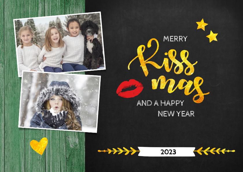 Kerstkaarten - Kerst Merry Kissmas voor jou